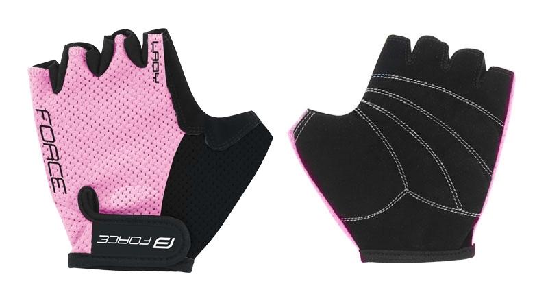 rukavice FORCE LADY, světle růžové M