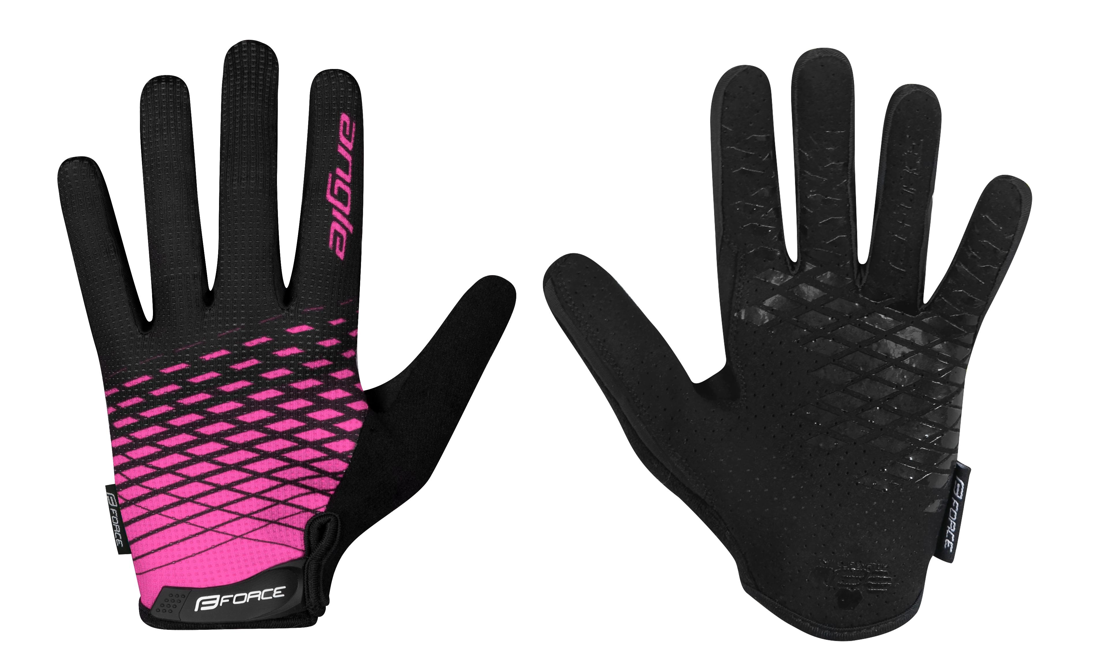 rukavice FORCE MTB ANGLE letní, růžovo-černé XL