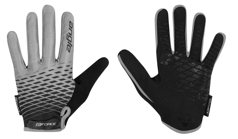 rukavice FORCE MTB ANGLE letní, šedo-černé XL