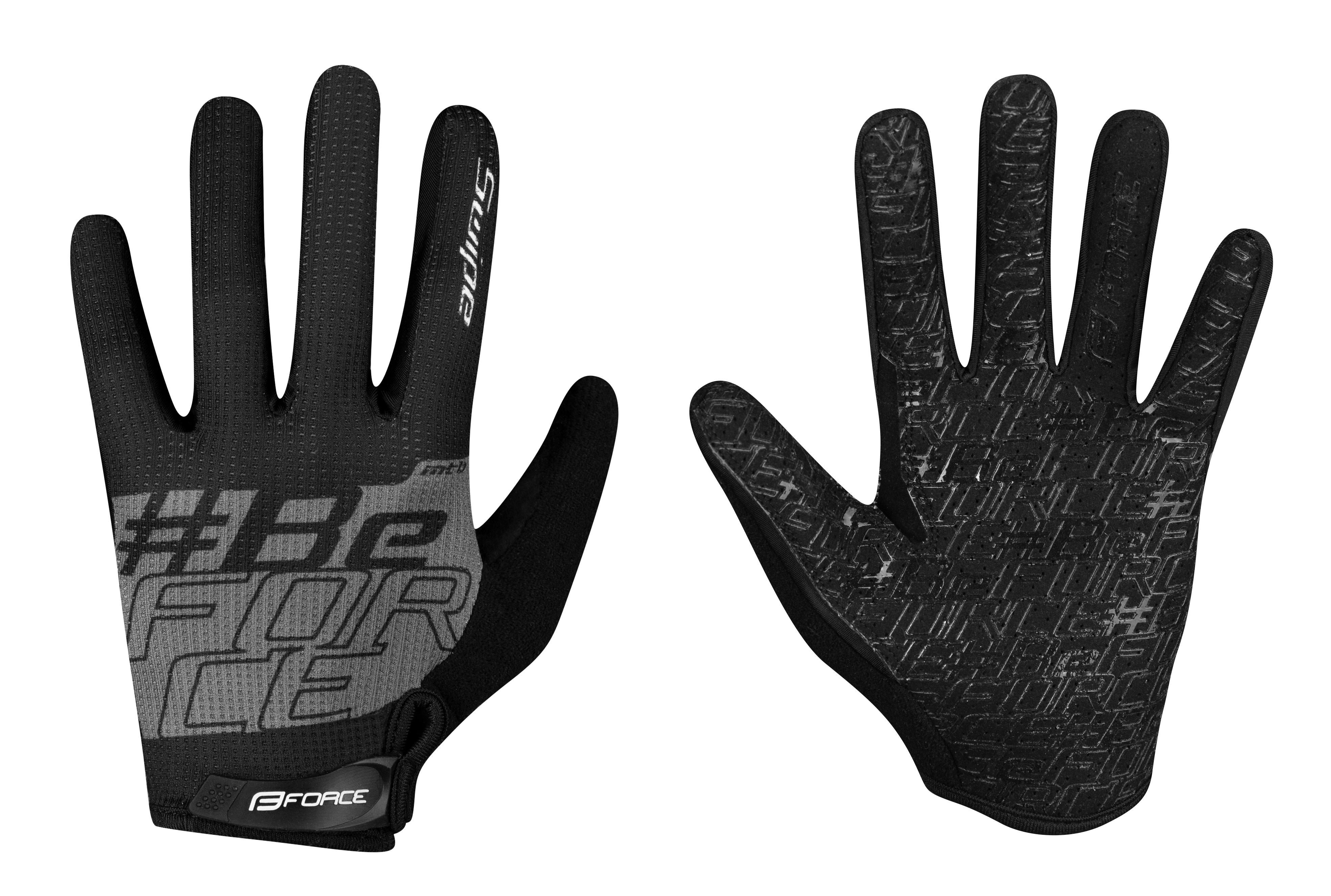 rukavice FORCE MTB SWIPE letní,černo-šedé M