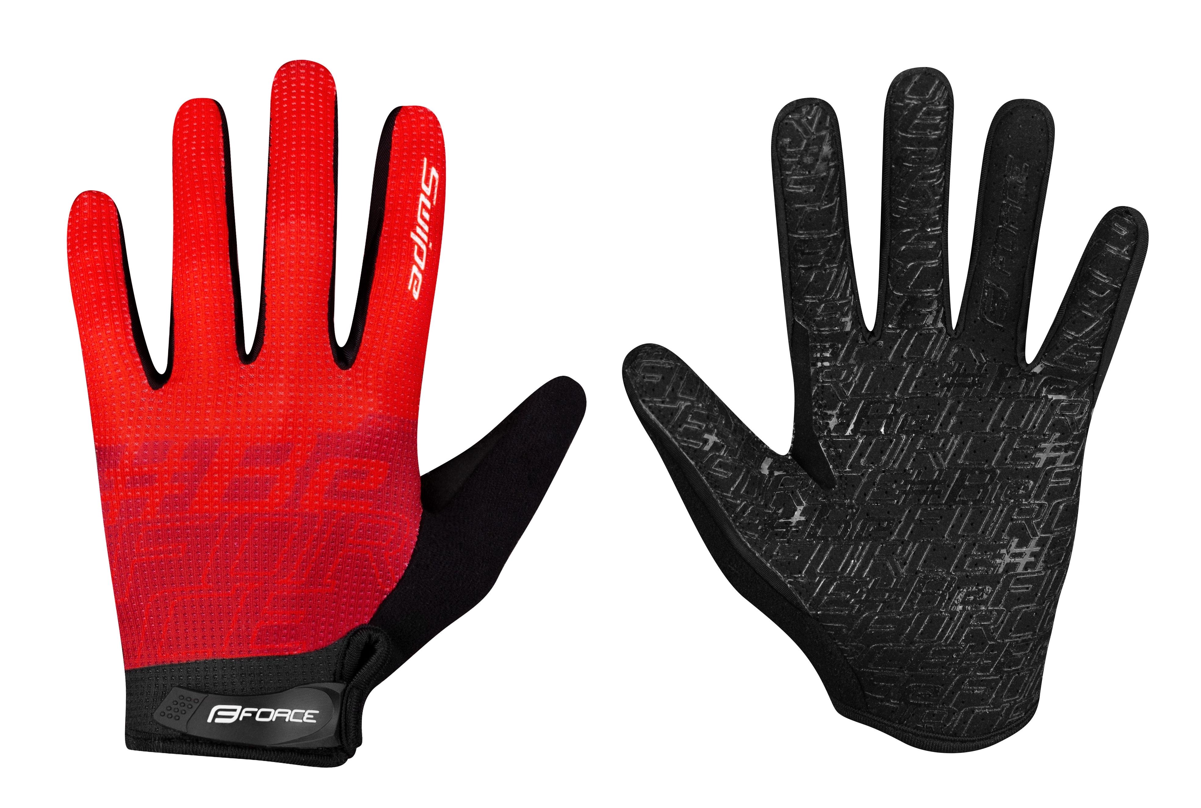 rukavice FORCE MTB SWIPE letní,červené S