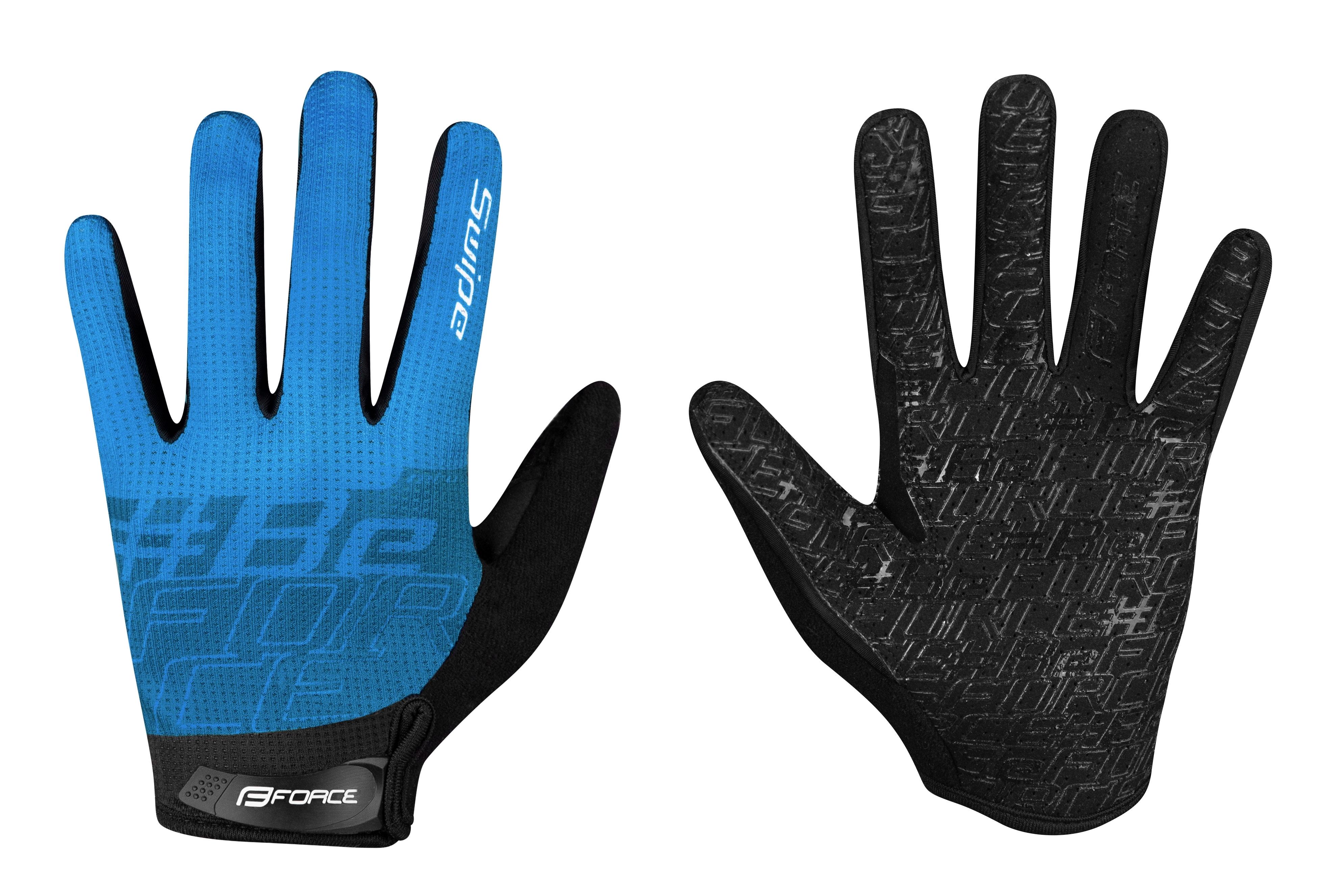 rukavice FORCE MTB SWIPE letní,modré M