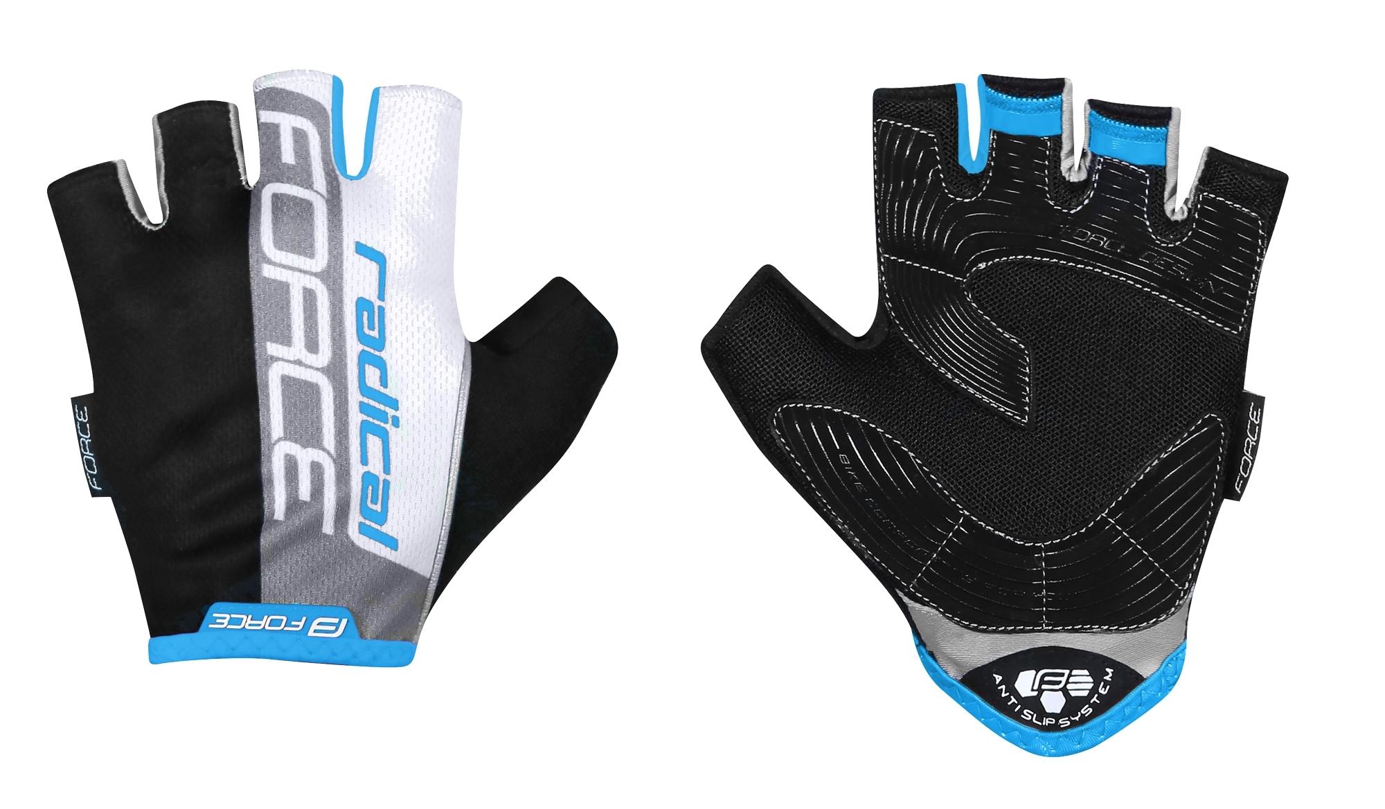 rukavice FORCE RADICAL, černo-bílo-modré XL