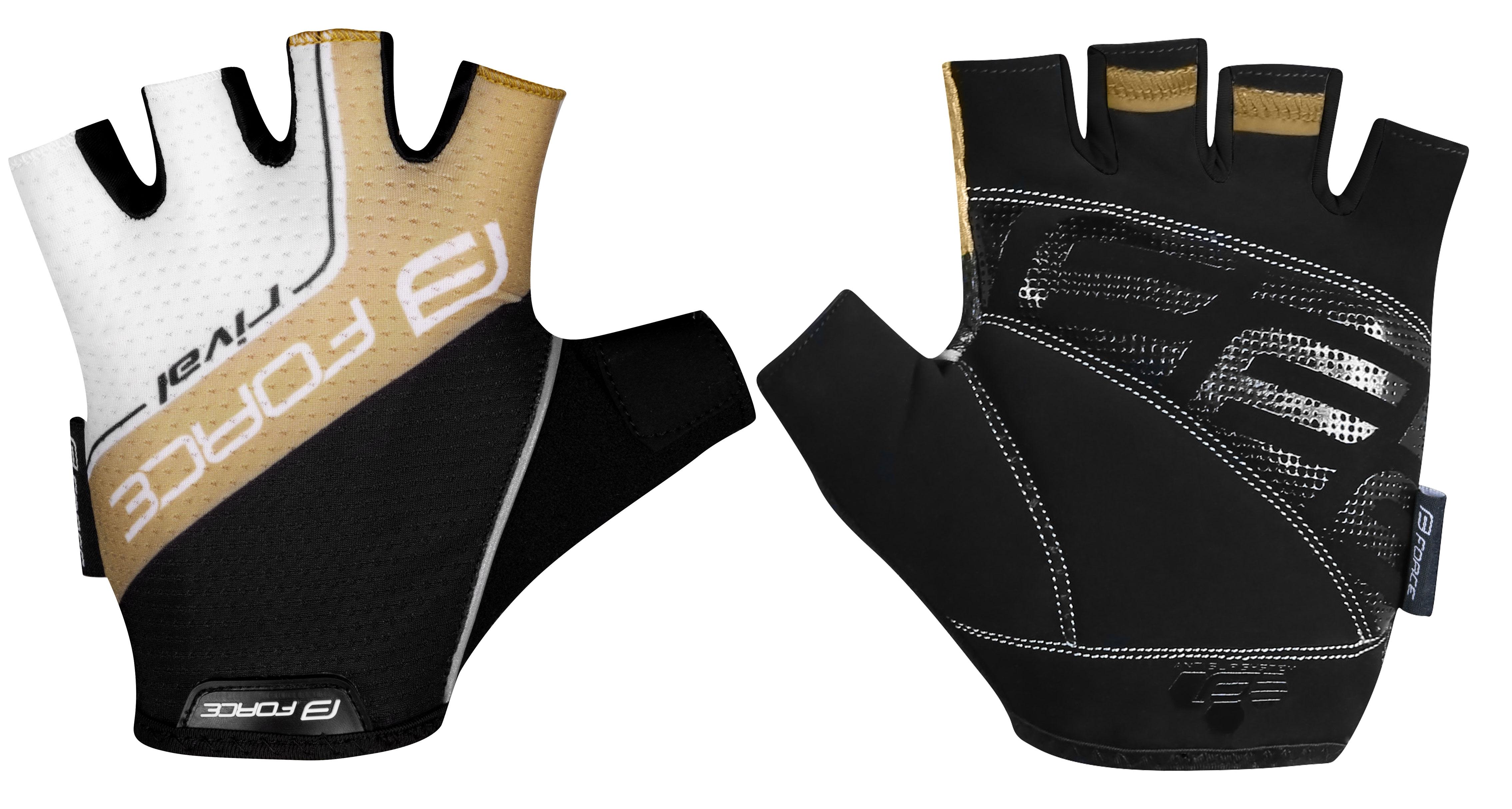 rukavice FORCE RIVAL, černo-zlaté M