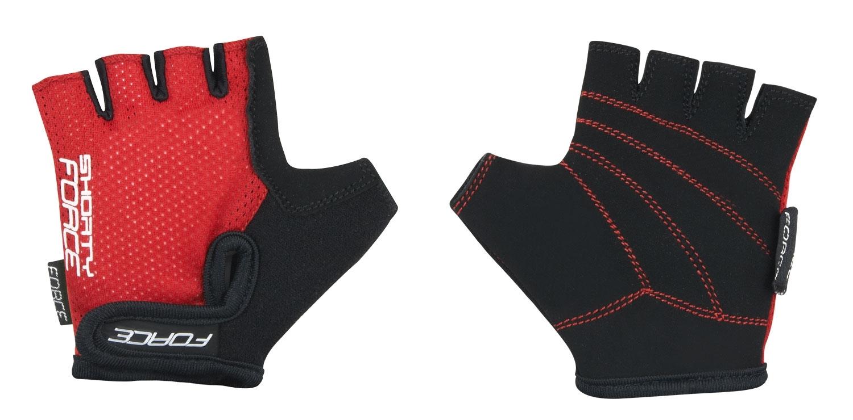 rukavice FORCE SHORTY dětské, červené XL