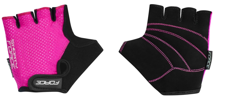 rukavice FORCE SHORTY dětské, růžové L