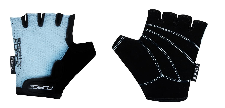 rukavice FORCE SHORTY dětské, světle modré L
