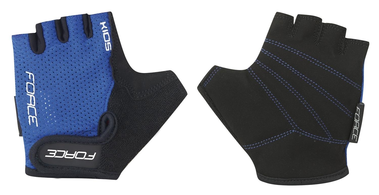 rukavice FORCE SHORTY dětské, tmavě modré L