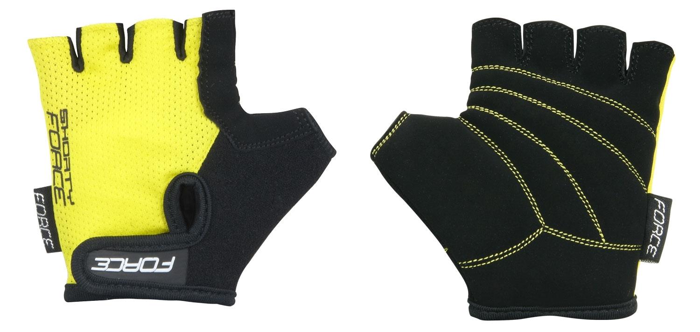 rukavice FORCE SHORTY dětské, žluté XL
