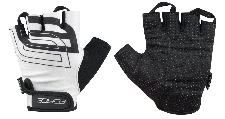 rukavice FORCE SPORT, bílé XL