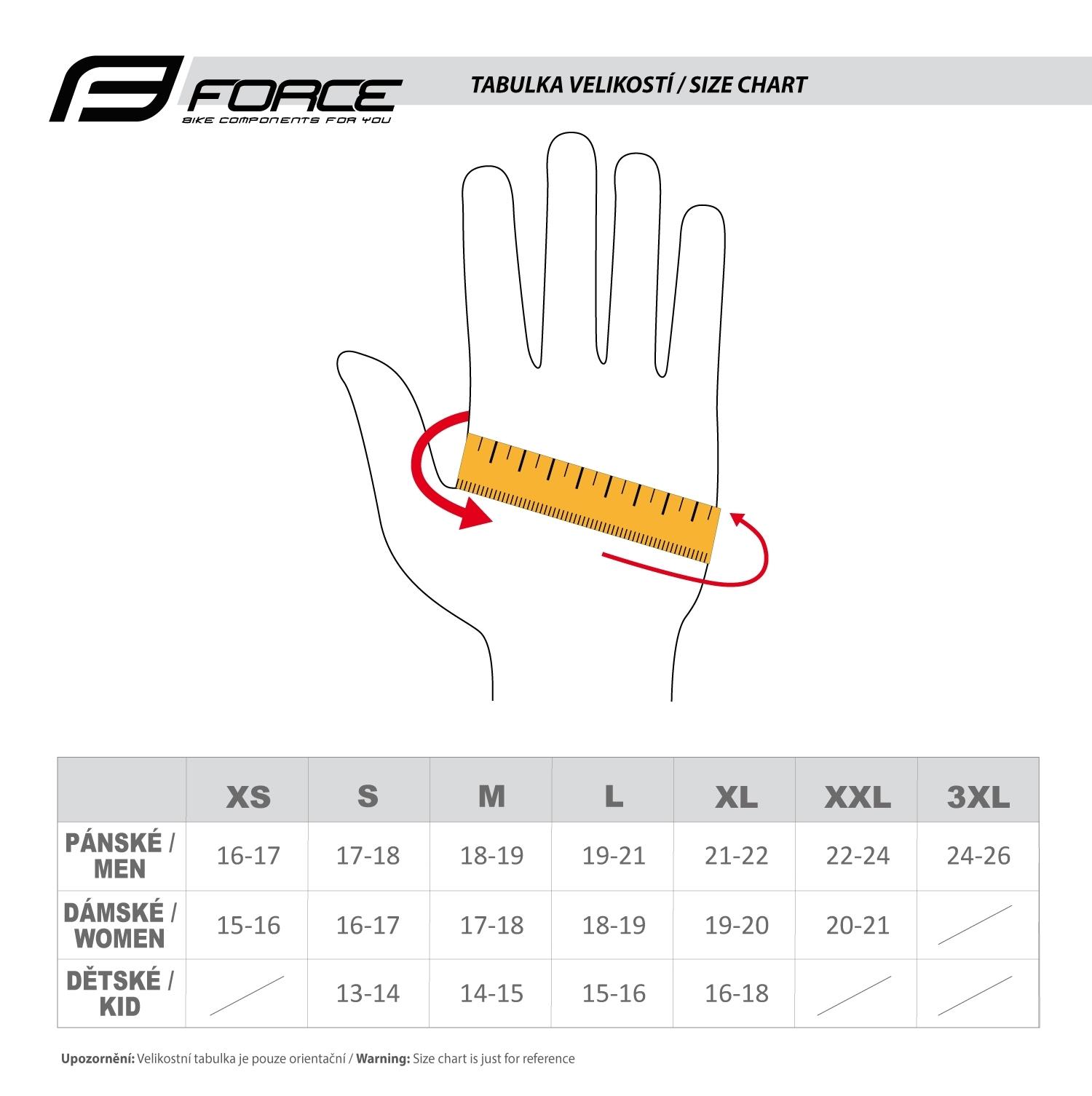 rukavice FORCE STRIPES gel, černo-fluo