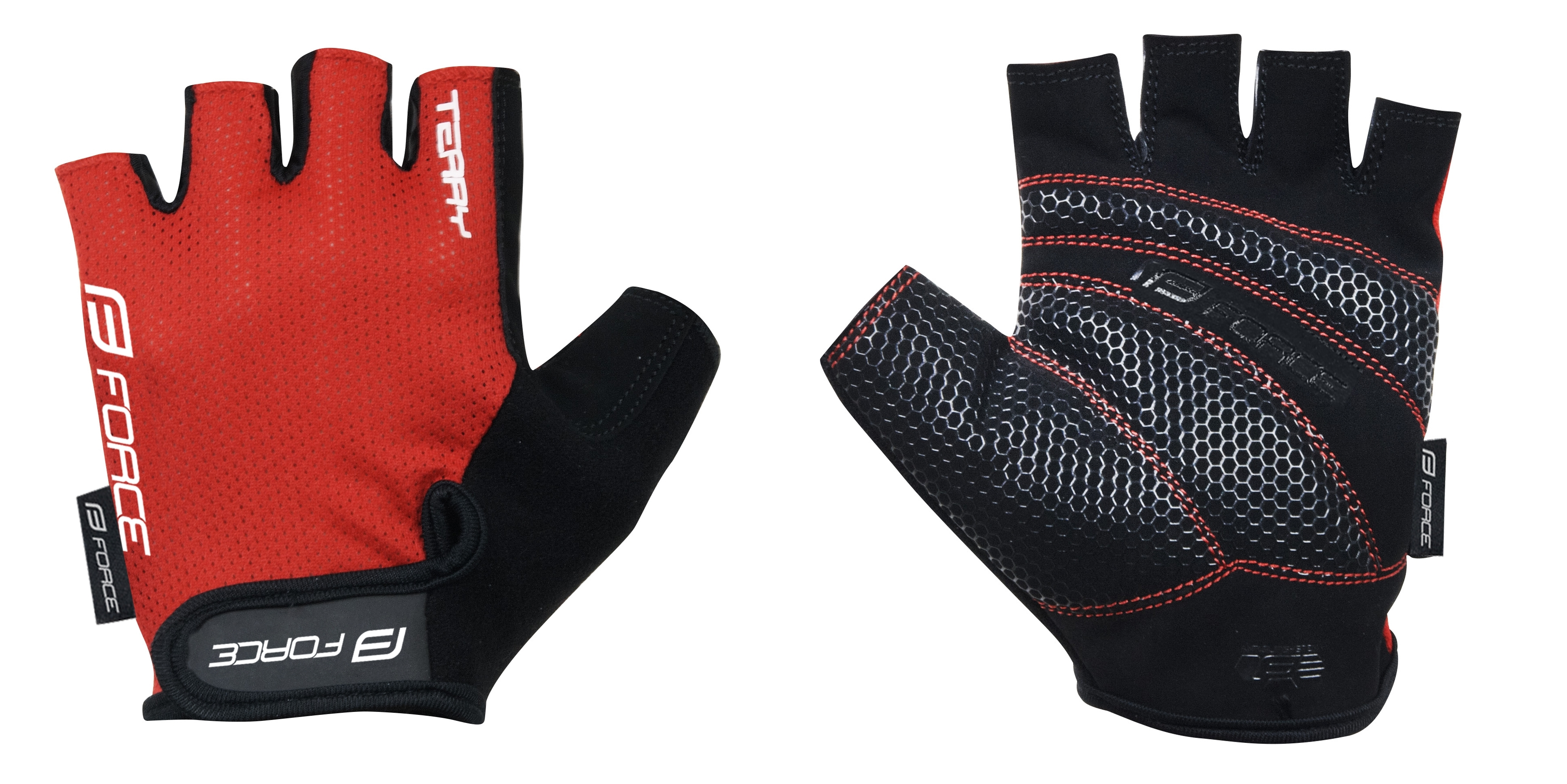 rukavice FORCE TERRY, červené XL