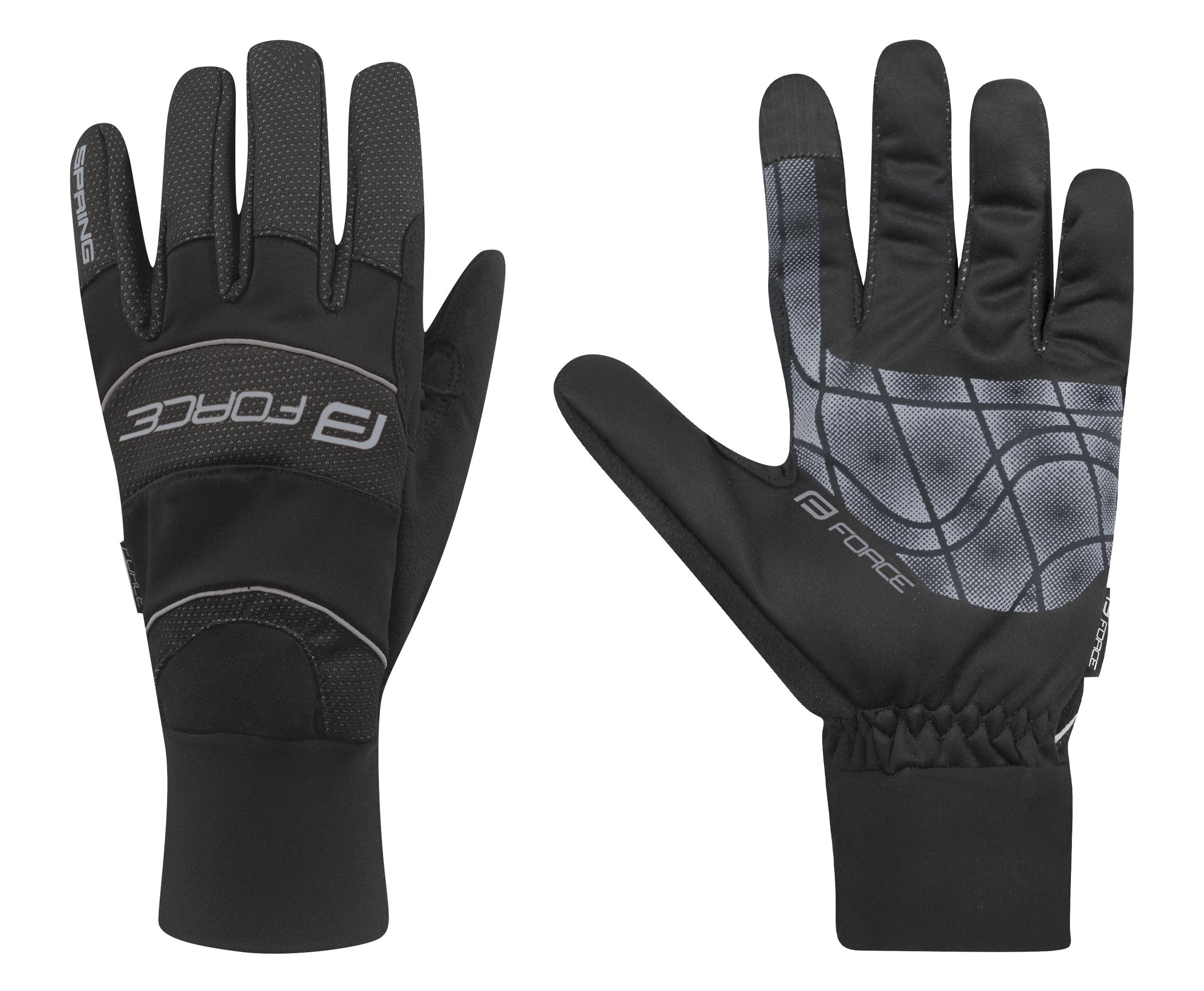 rukavice FORCE WINDSTER SPRING, černé M