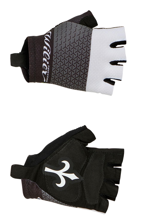 rukavice WILIER bez zapínání, černo-bílé L