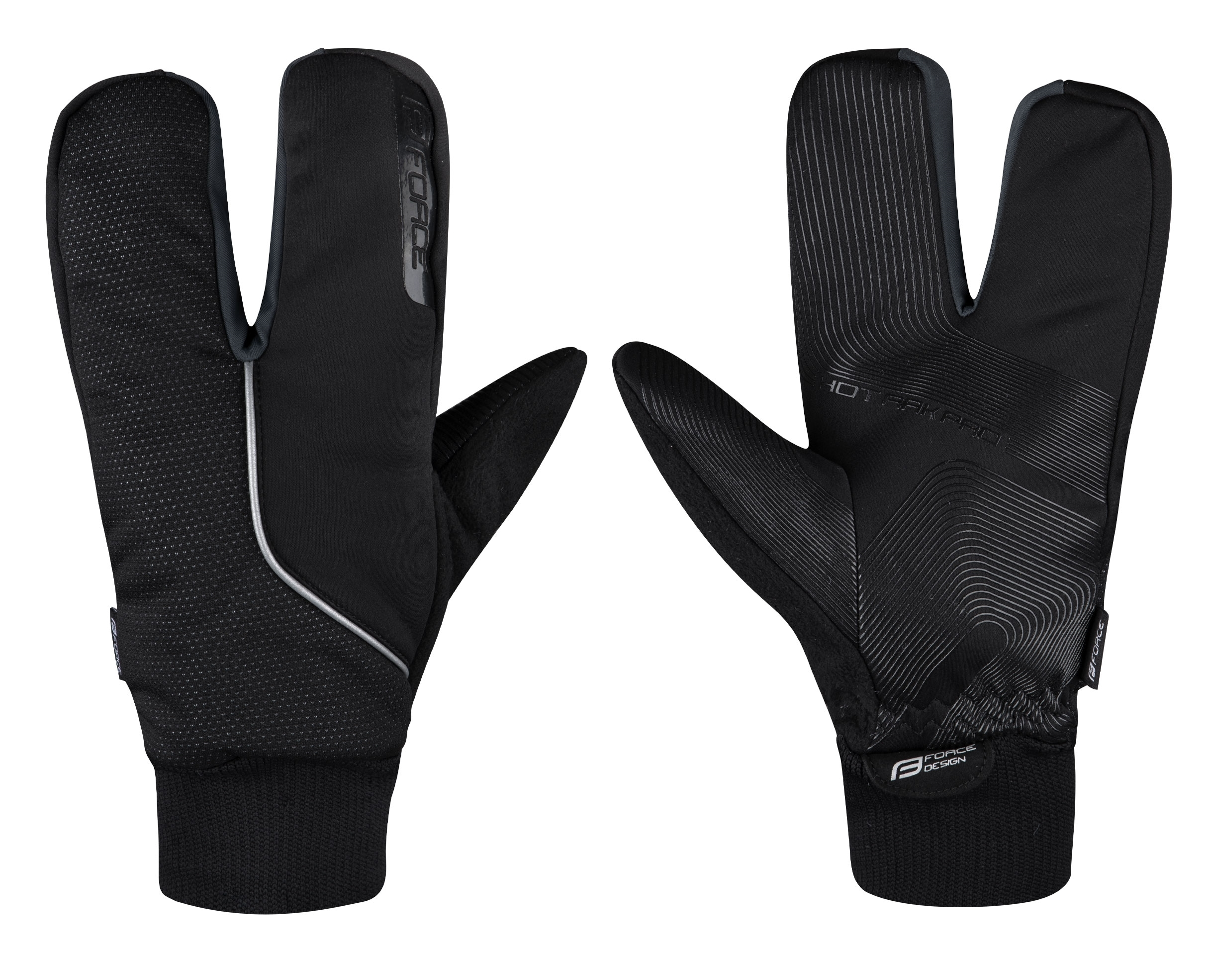 rukavice zimní F HOT RAK PRO 3 prsté, černé XXL