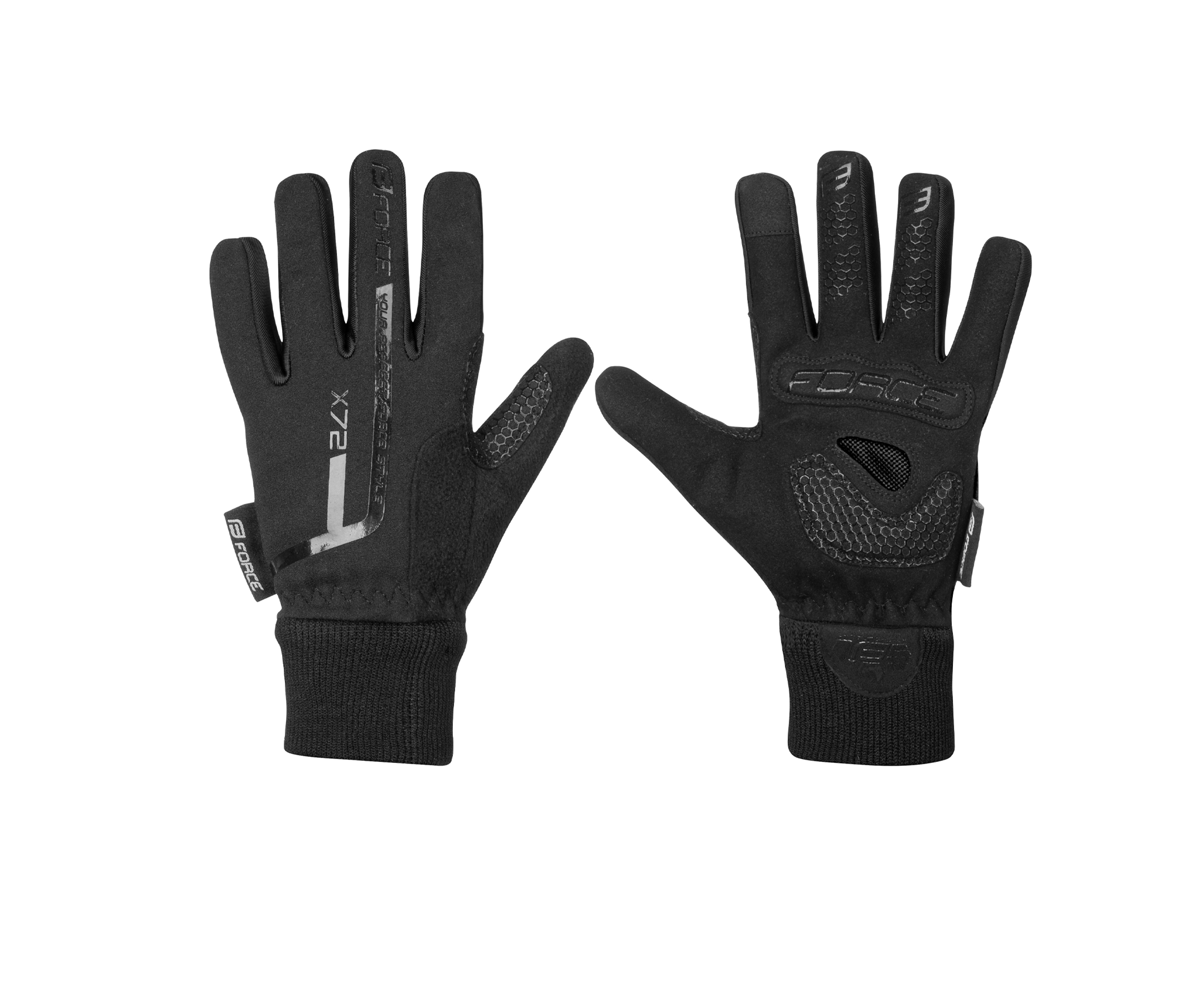 rukavice zimní FORCE KID dětské X72, černé XL