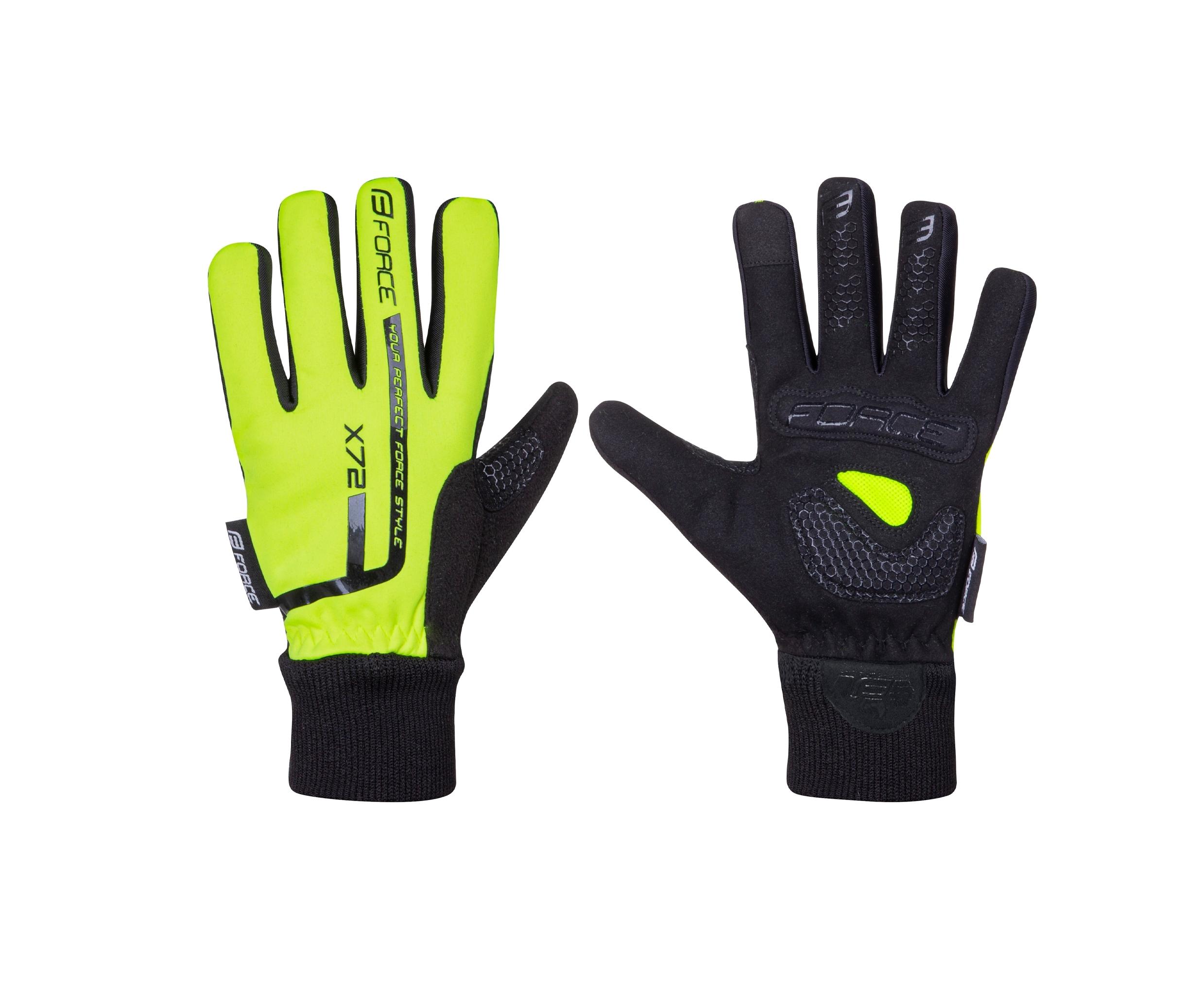 rukavice zimní FORCE KID dětské X72, fluo L