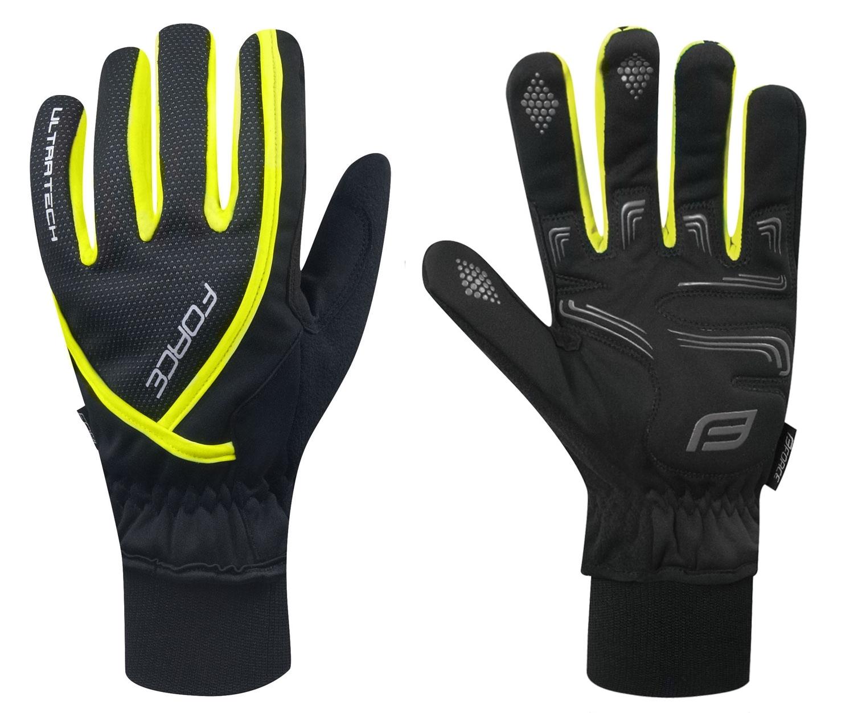 rukavice zimní FORCE ULTRA TECH, fluo XXL