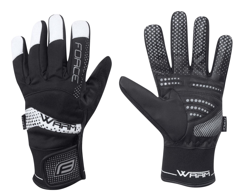 rukavice zimní FORCE WARM, černé XL