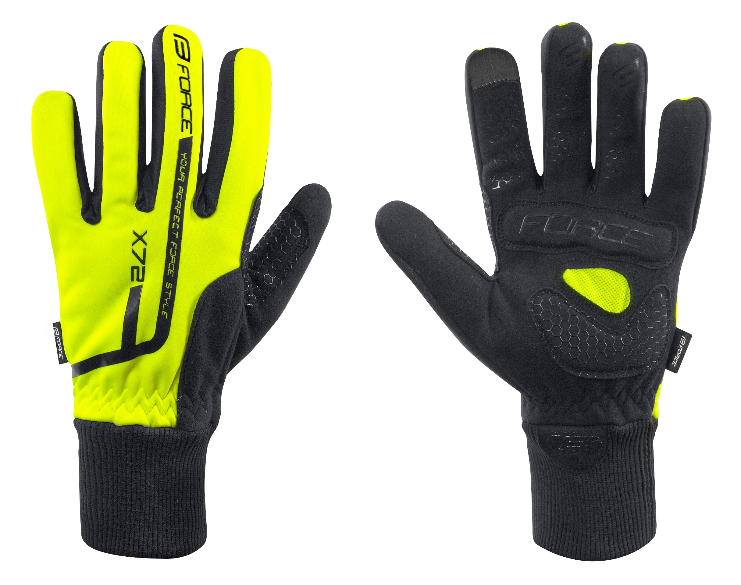 rukavice zimní FORCE X72, fluo L