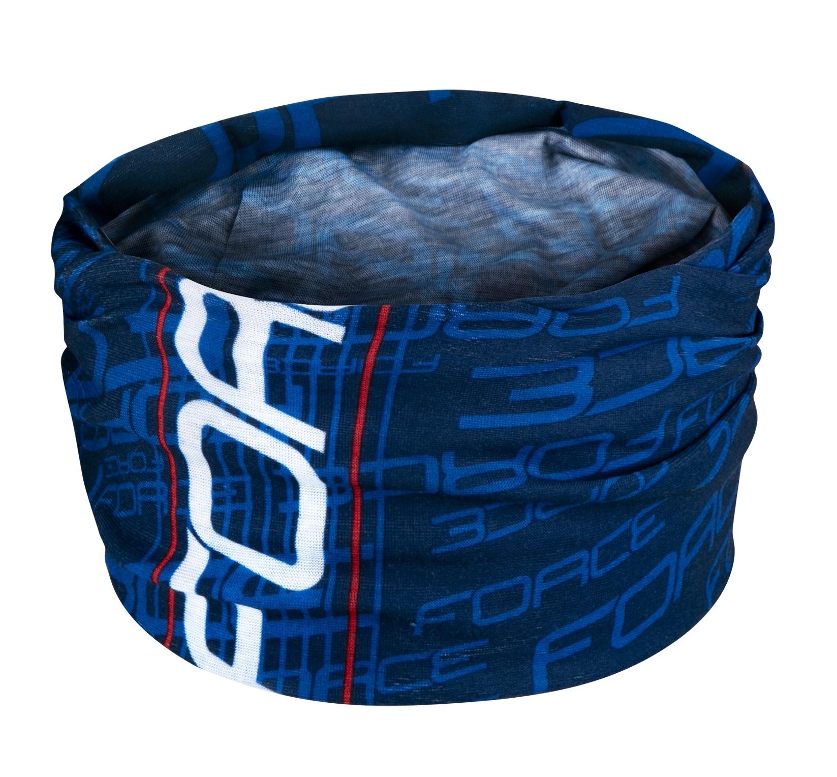 šátek multifunkční FORCE léto, modrý, UNI