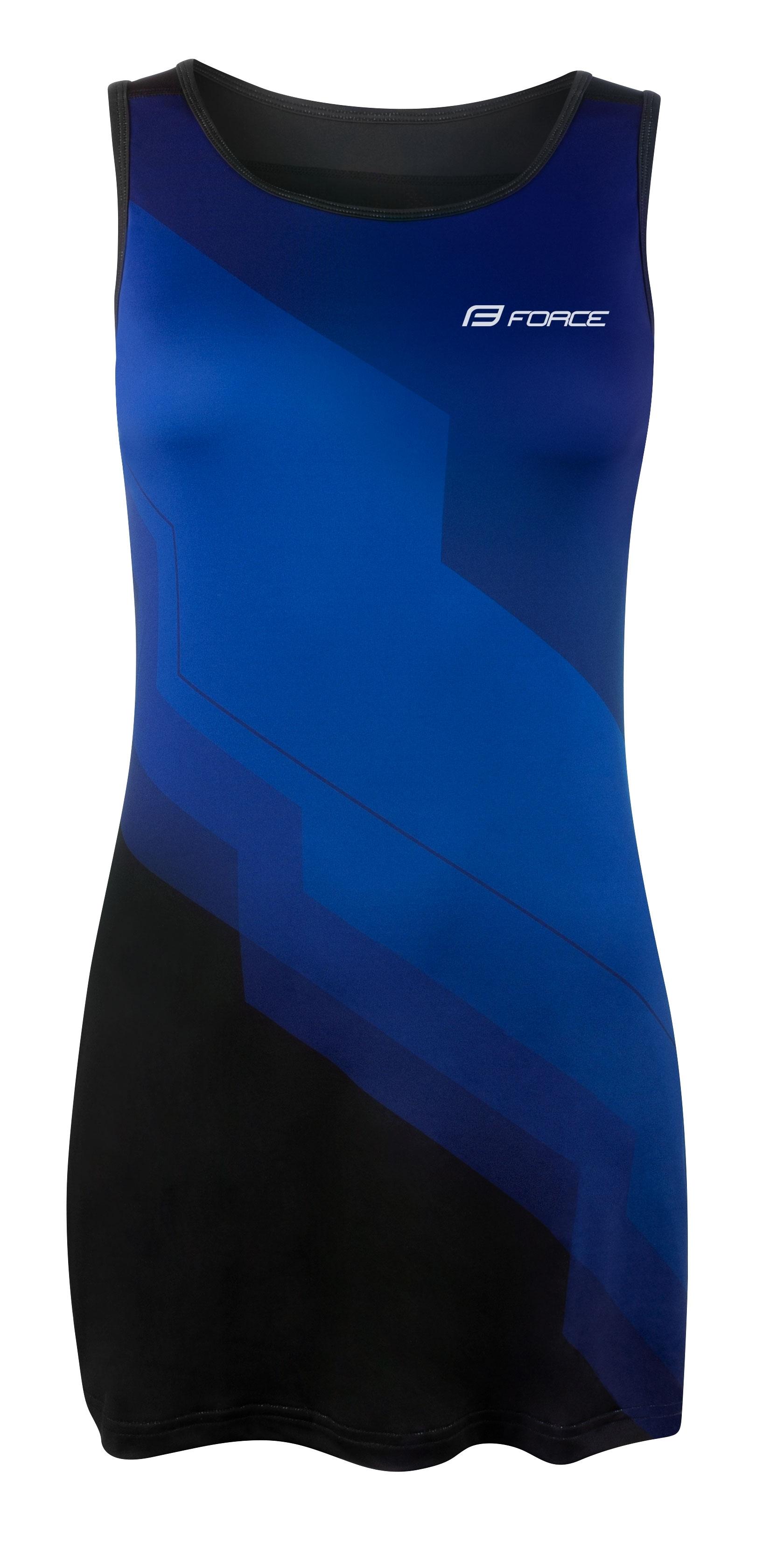 šaty sportovní FORCE ABBY, modro-černé XXL