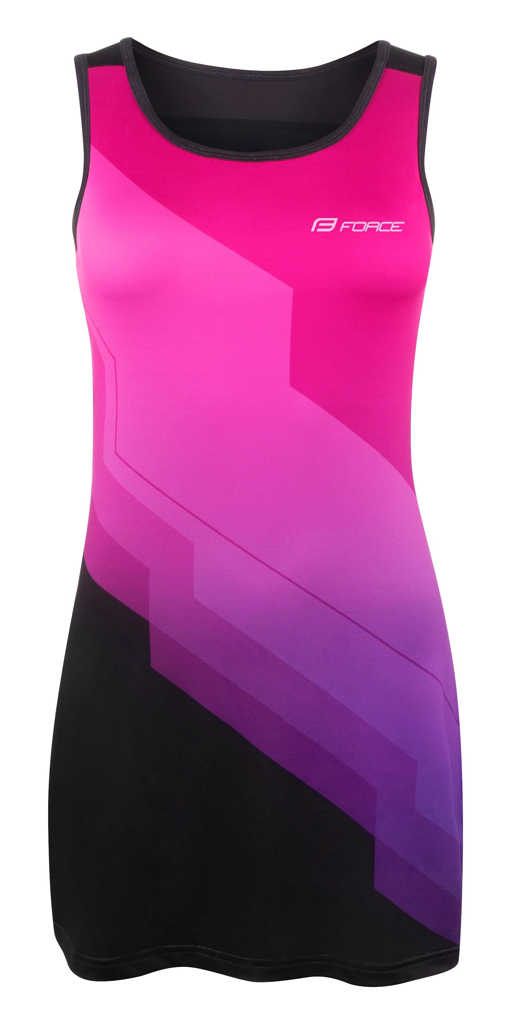šaty sportovní FORCE ABBY, růžovo-černé XL