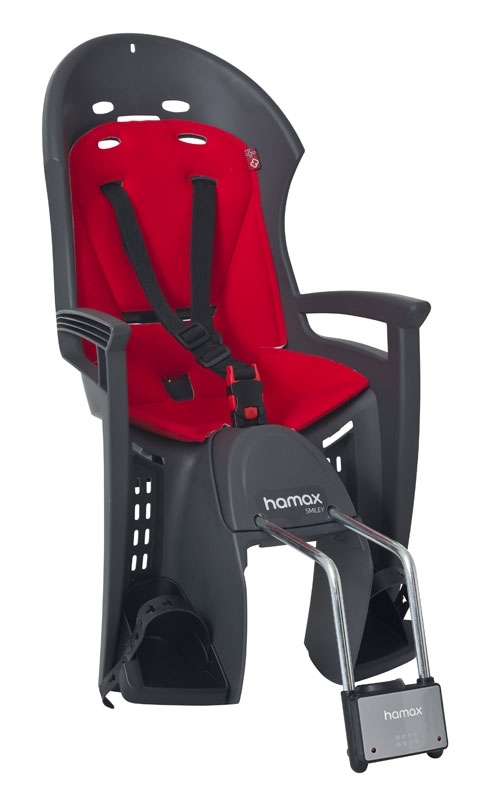 sedačka HAMAX SMILEY zadní tmavě šedá-červená