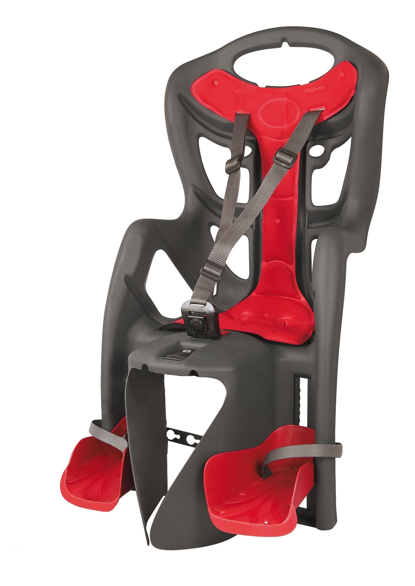 sedačka PEPE CLAMP zadní na nosič, šedá/červený
