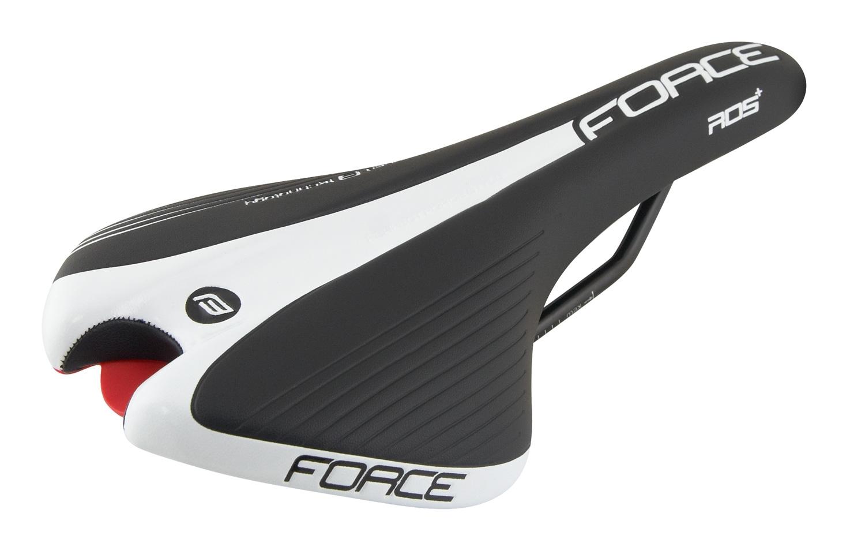 sedlo FORCE ROS+ sportovní, černo-bílé