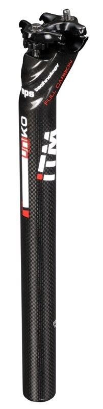sedlovka ITM UNIKO 31,6/350 mm, karbonová, černá
