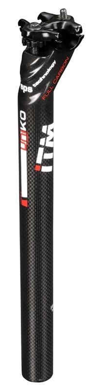 sedlovka ITM UNIKO 31,6/350mm karbon/Al černá