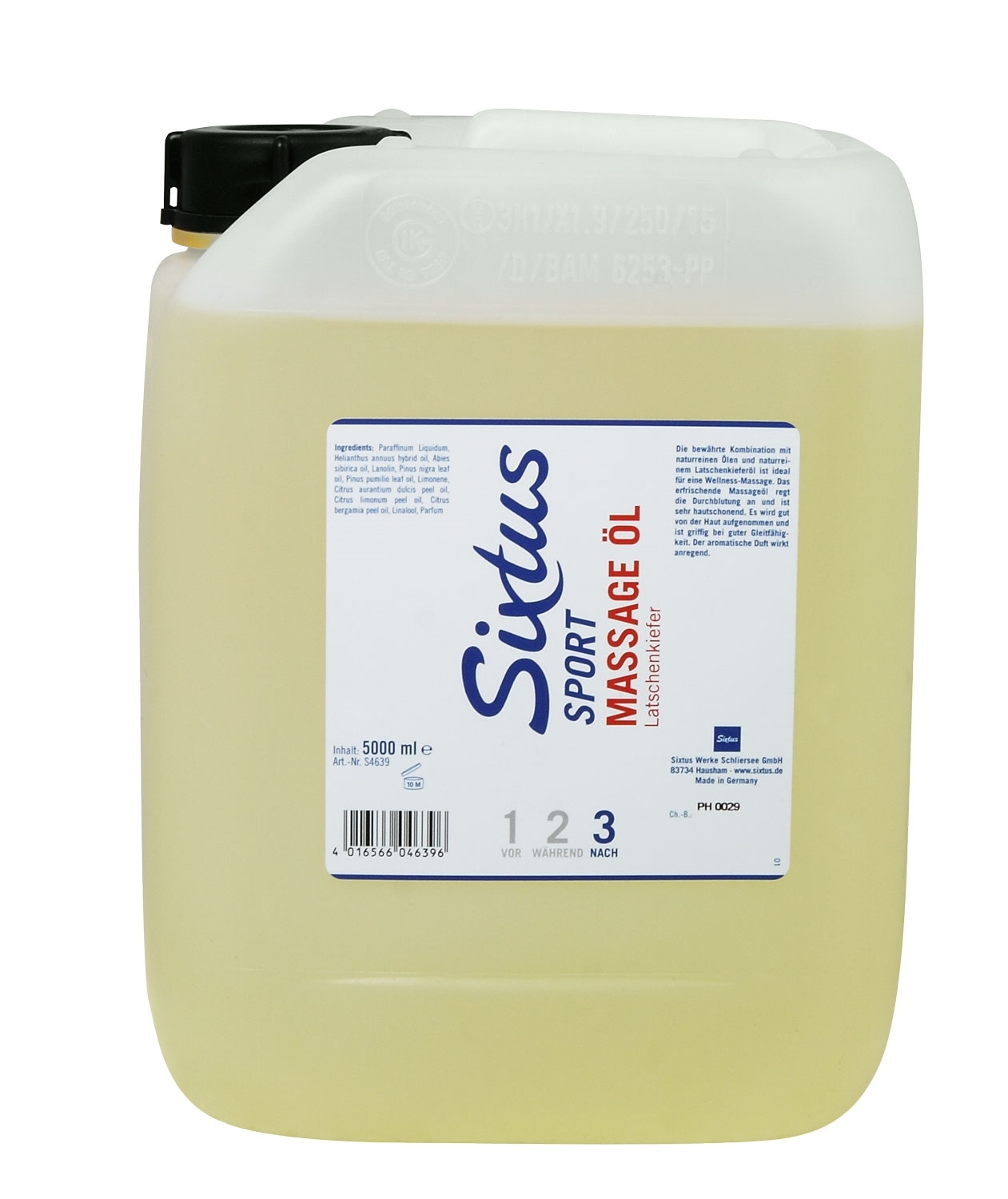 SIXTUS MASSAGE OIL LATSCHENKIEFER olej  5000 ml