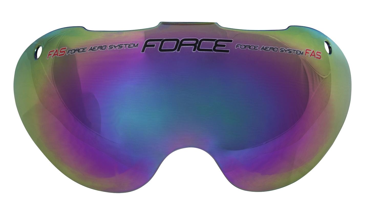 sklo náhradní k přilbě FORCE GLOBE, černé laser