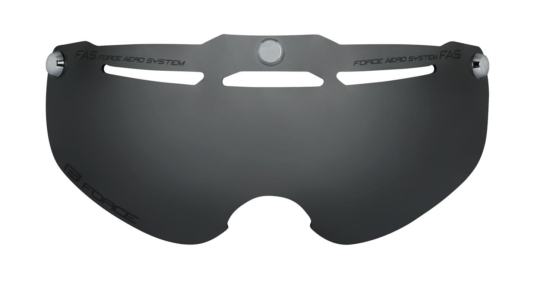 sklo náhradní k přilbě FORCE HORNET, černé laser