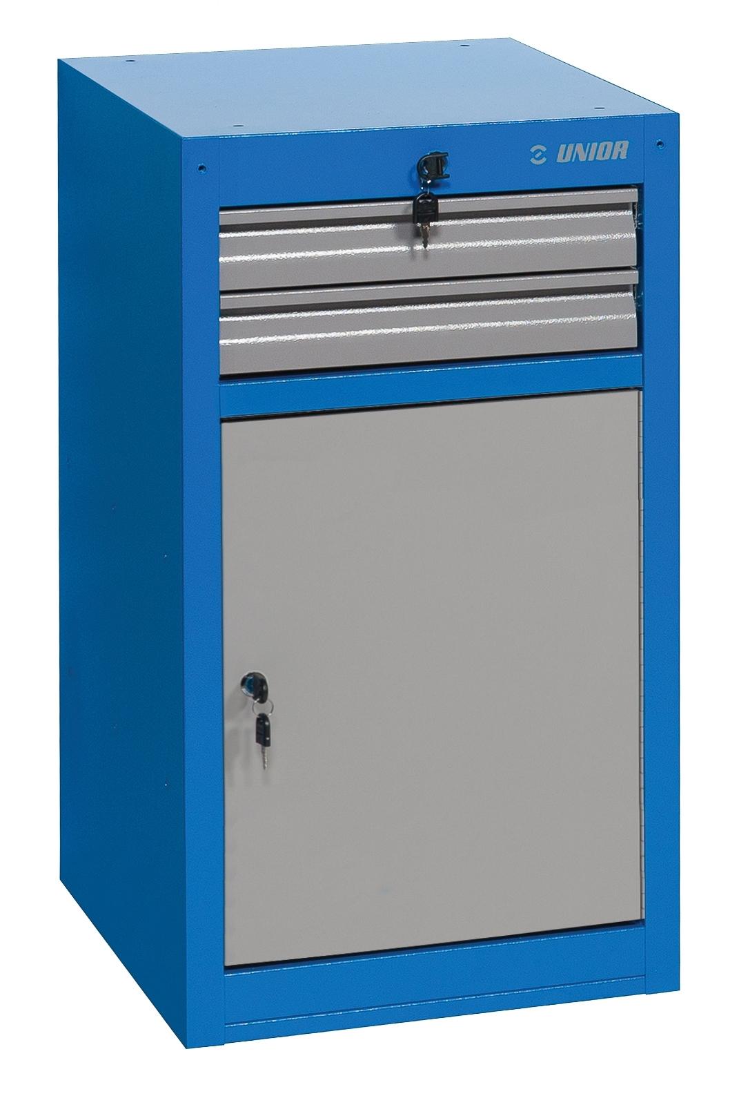 skříň dílenská UNIOR 2 úzká 475x650x870 mm