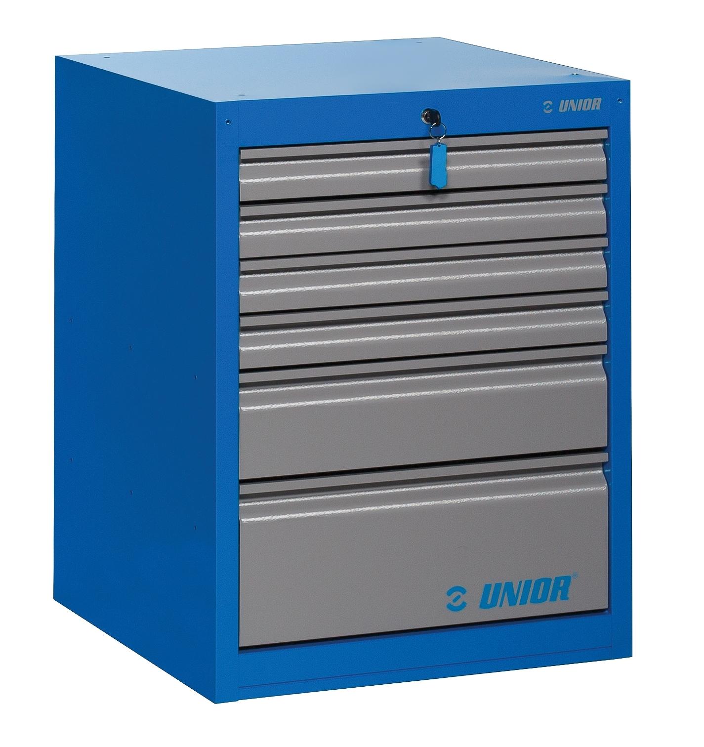 skříň dílenská UNIOR 6 široká 663x650x870 mm