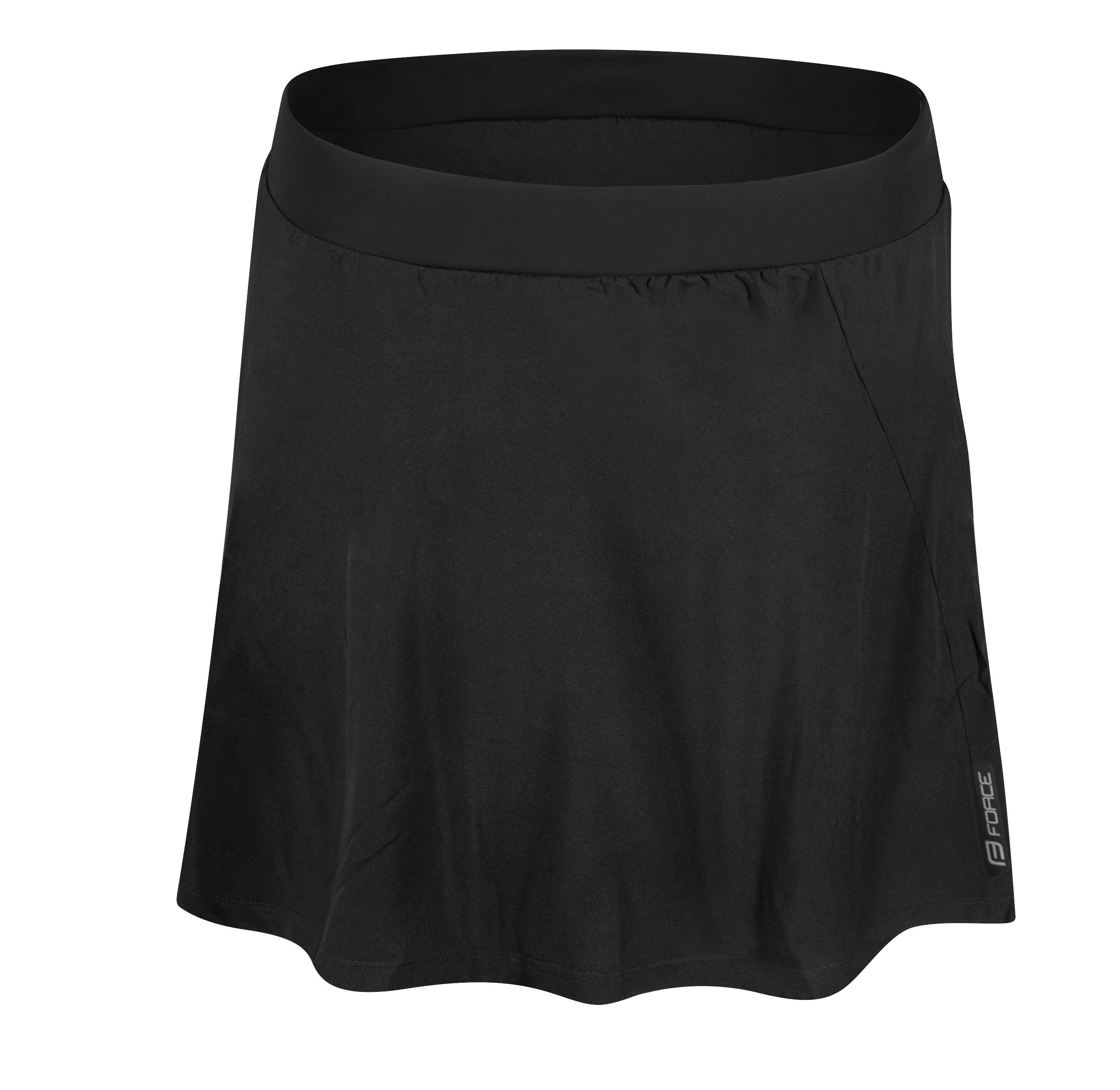 sukně FORCE DAISY do pasu s vložkou, černá XL