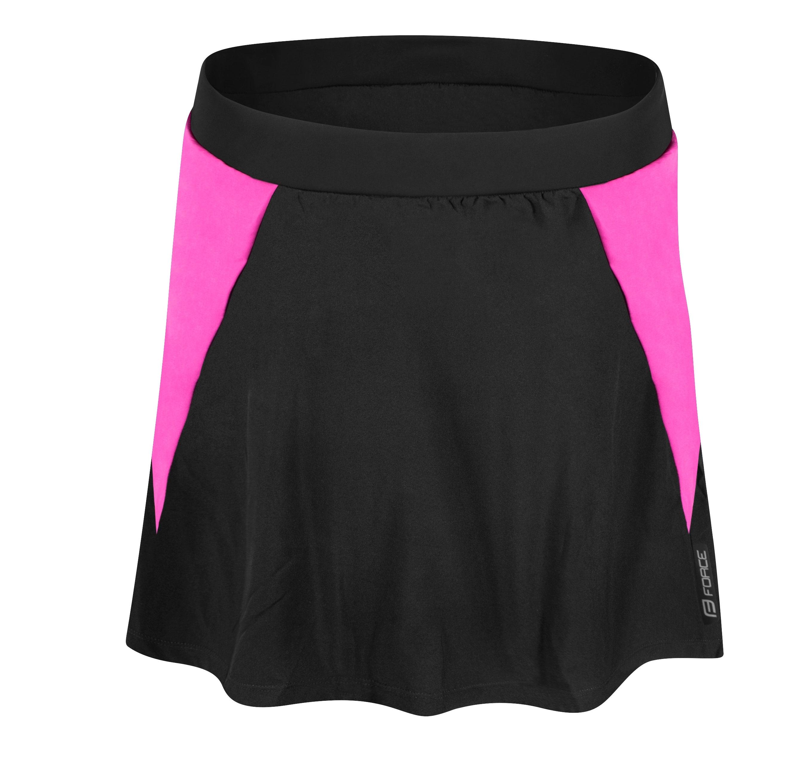 sukně FORCE DAISY s vložkou, černo-růžová M