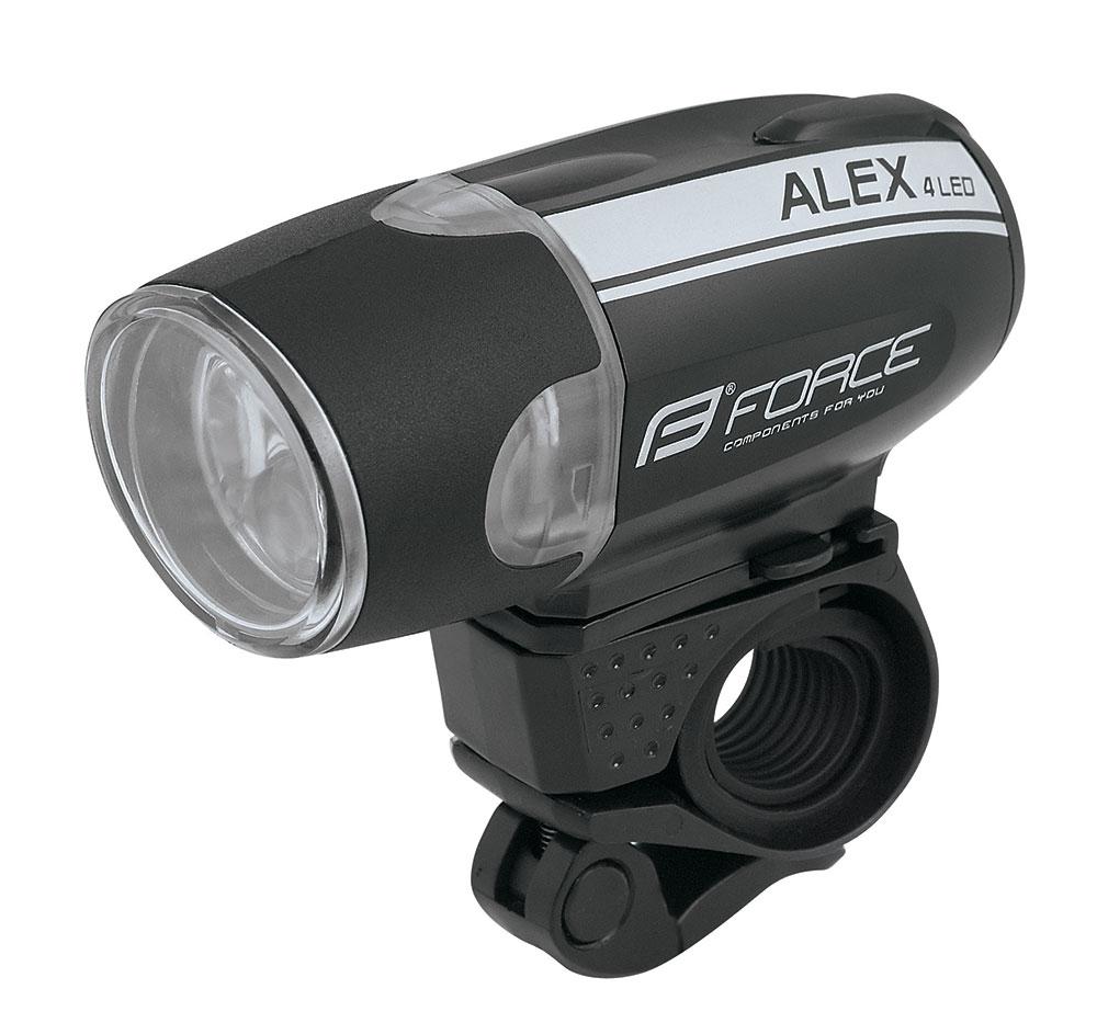 světlo přední FORCE ALEX 120LM baterie, černé