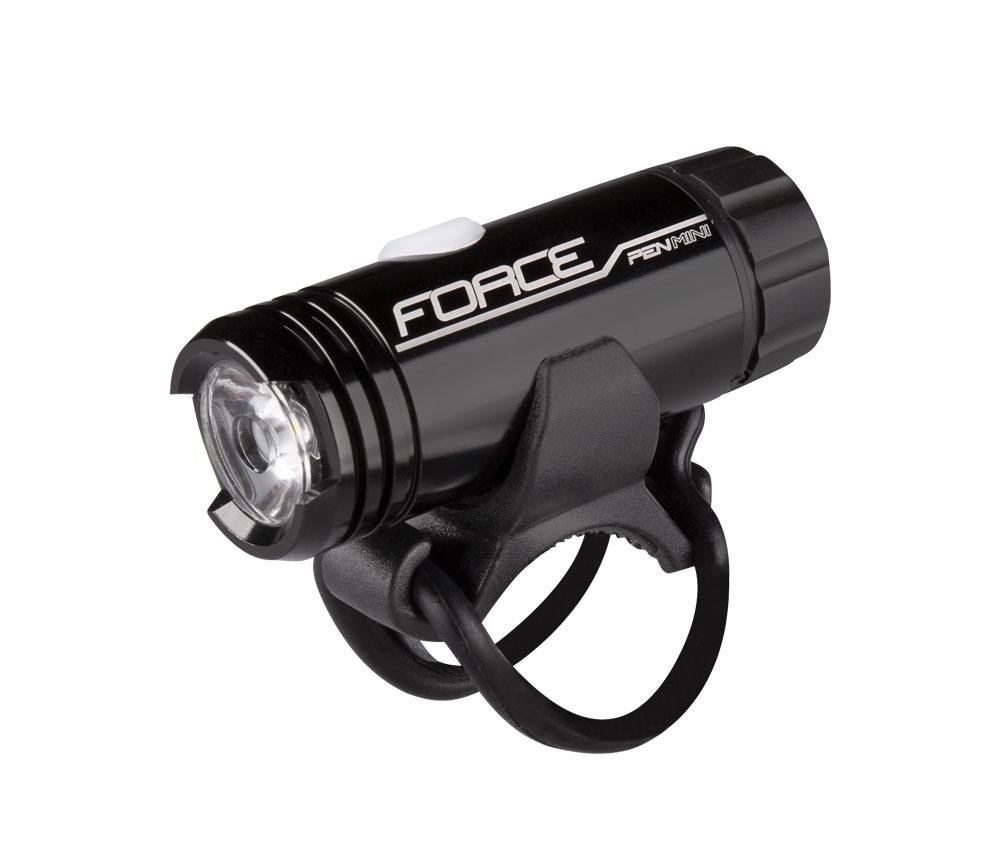 světlo přední FORCE PEN 150LM USB MINI,černé