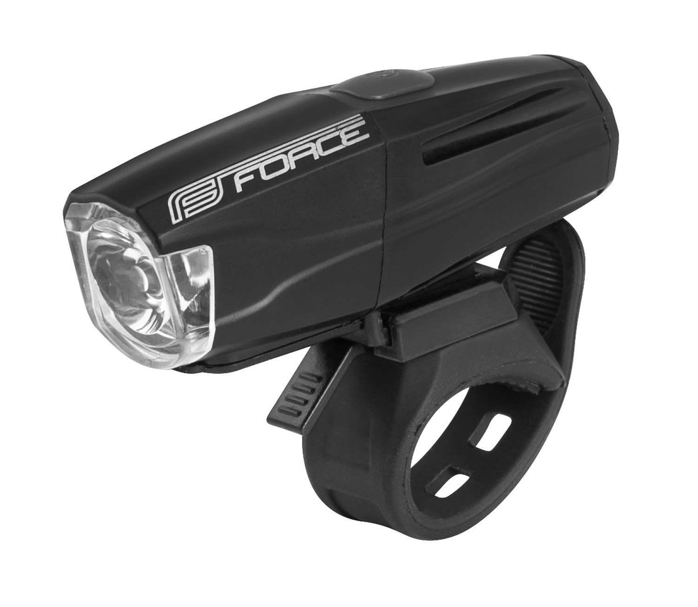světlo přední FORCE SHARK 500LM USB, černé