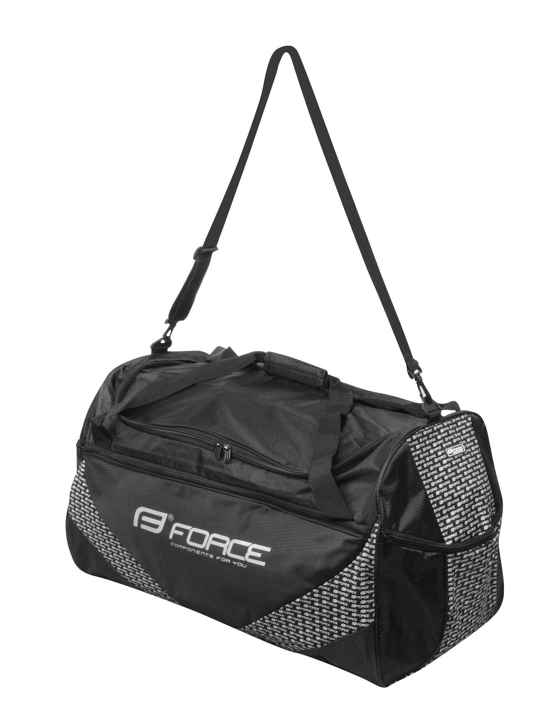 taška sportovní FORCE 80 l, černá