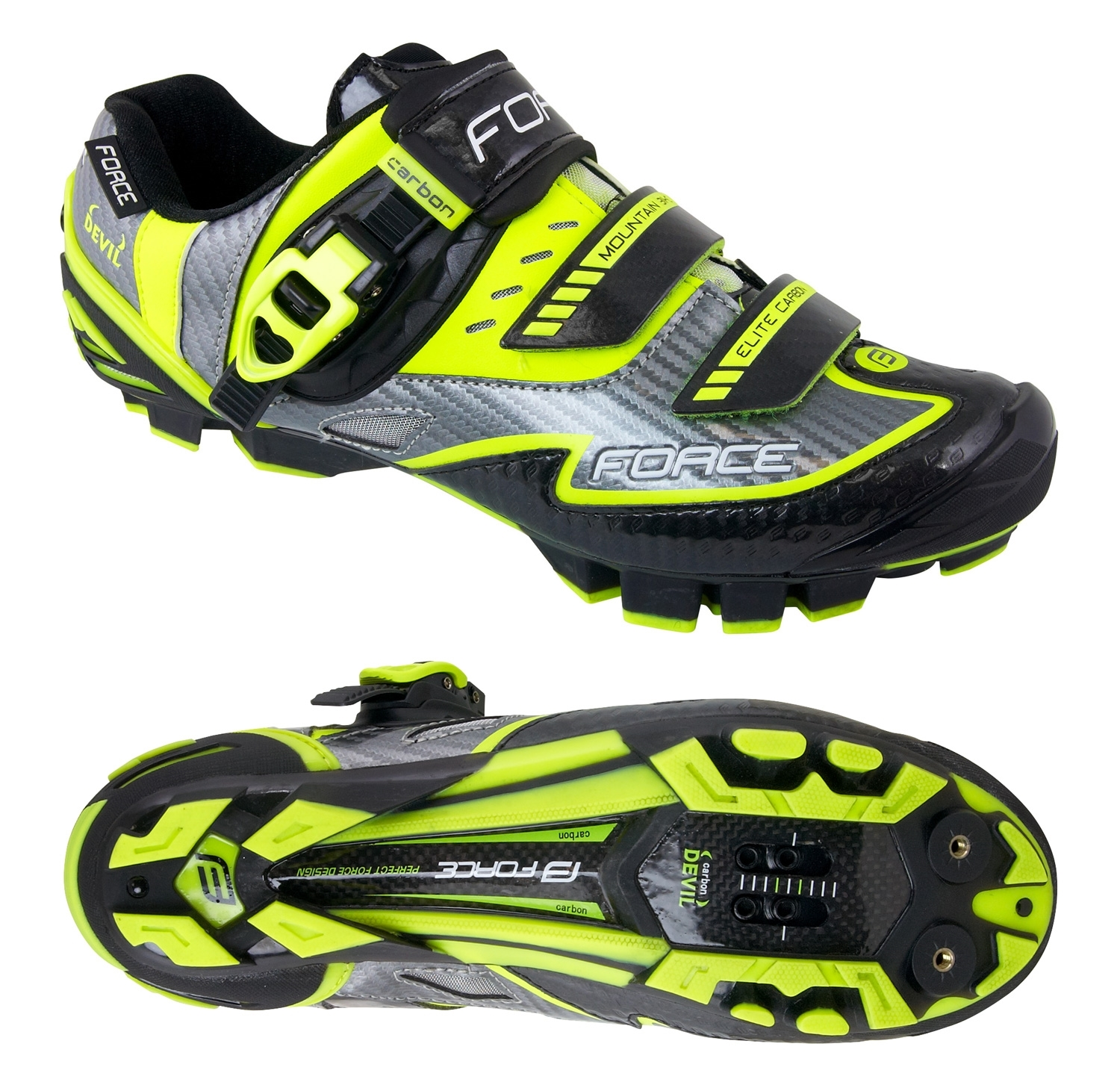 tretry FORCE MTB CARBON DEVIL, fluo 48