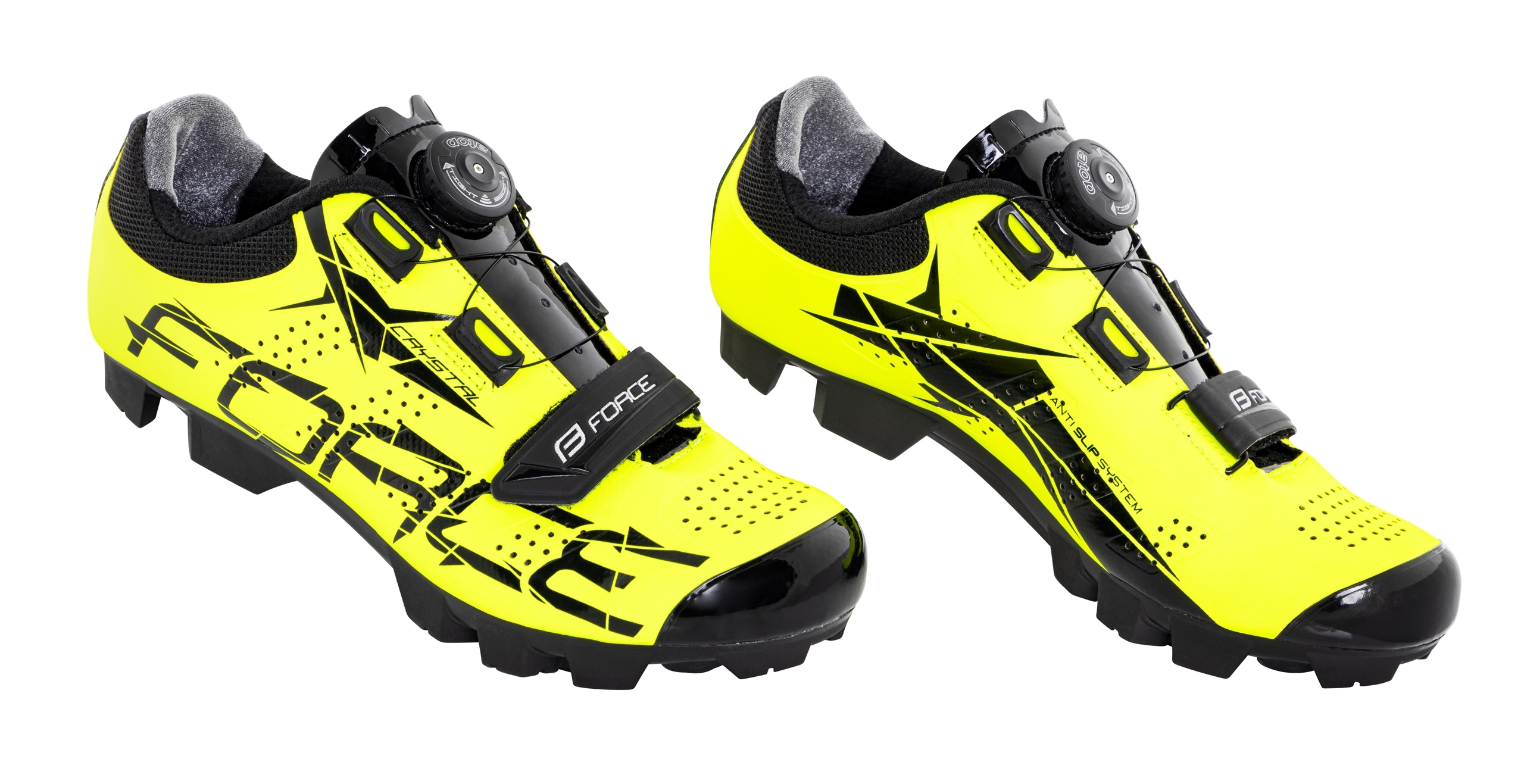 tretry FORCE MTB CRYSTAL, fluo 36
