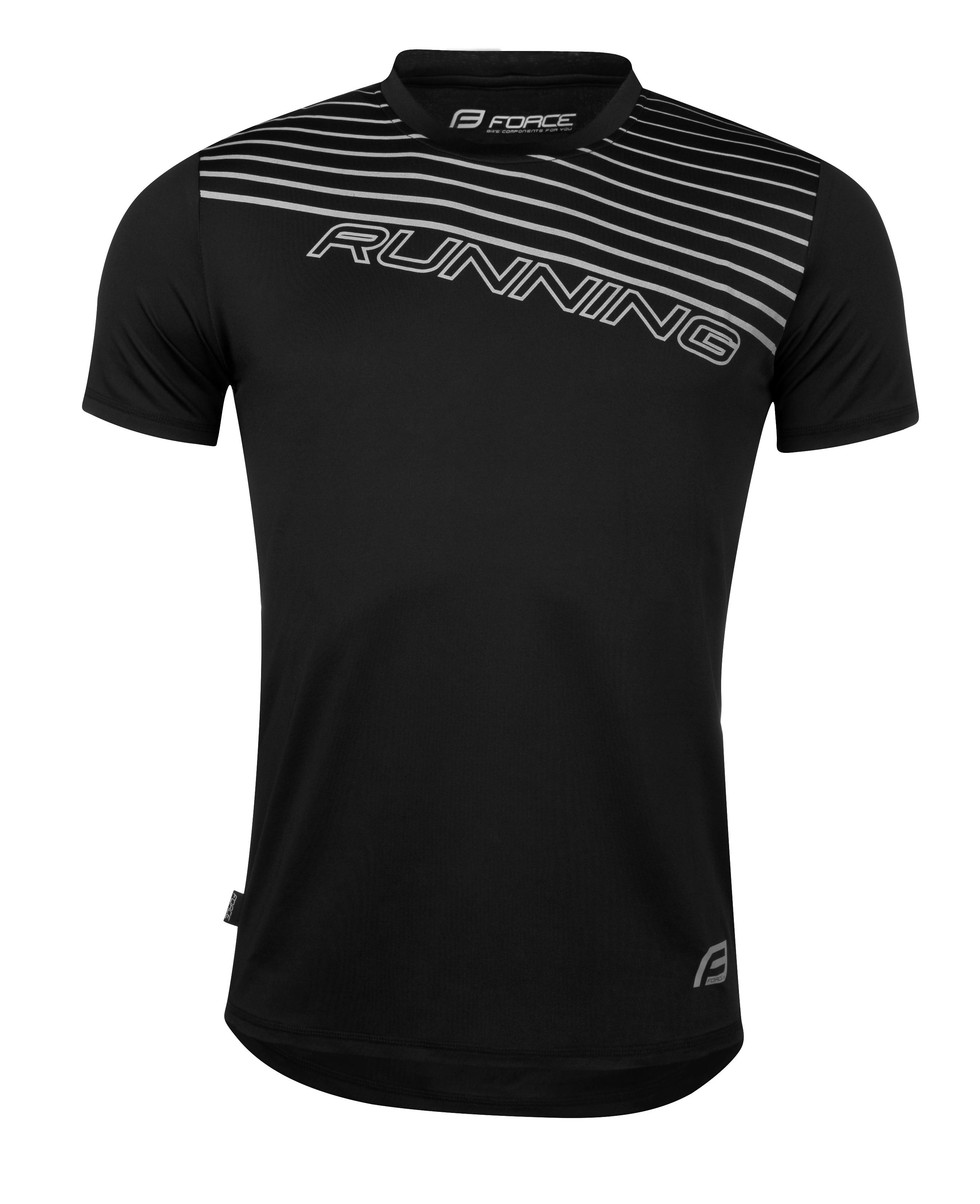 triko běžecké FORCE RUNNING, černé XS