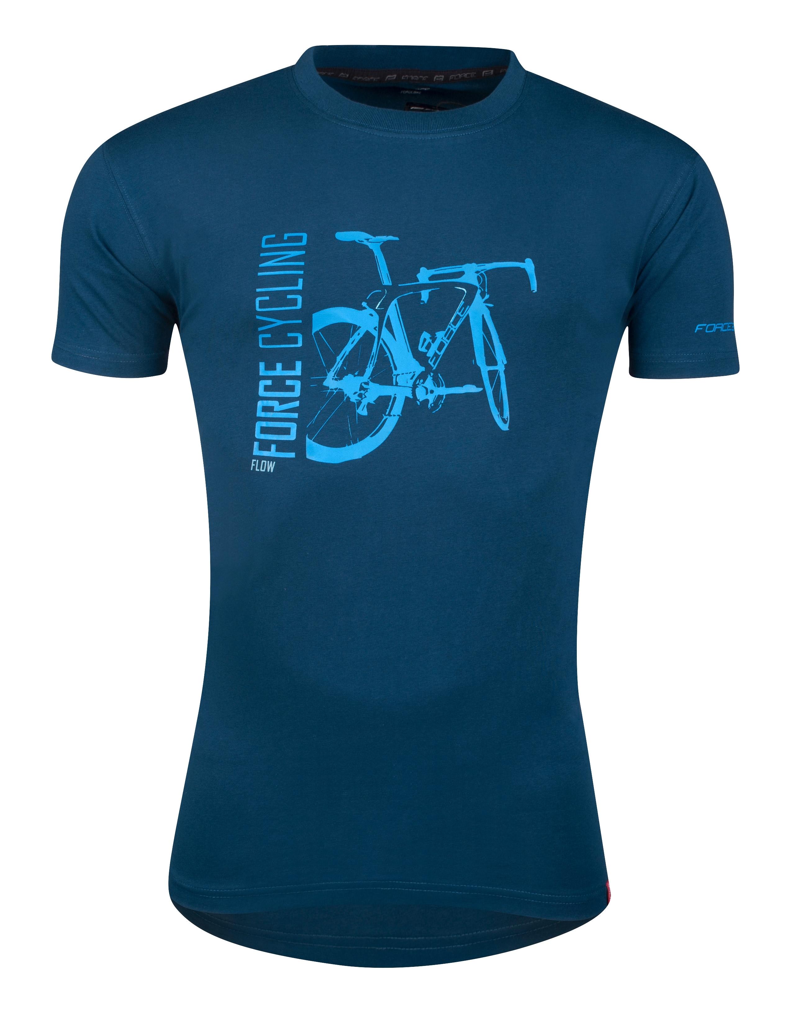 triko FORCE FLOW krátký rukáv,modré XS