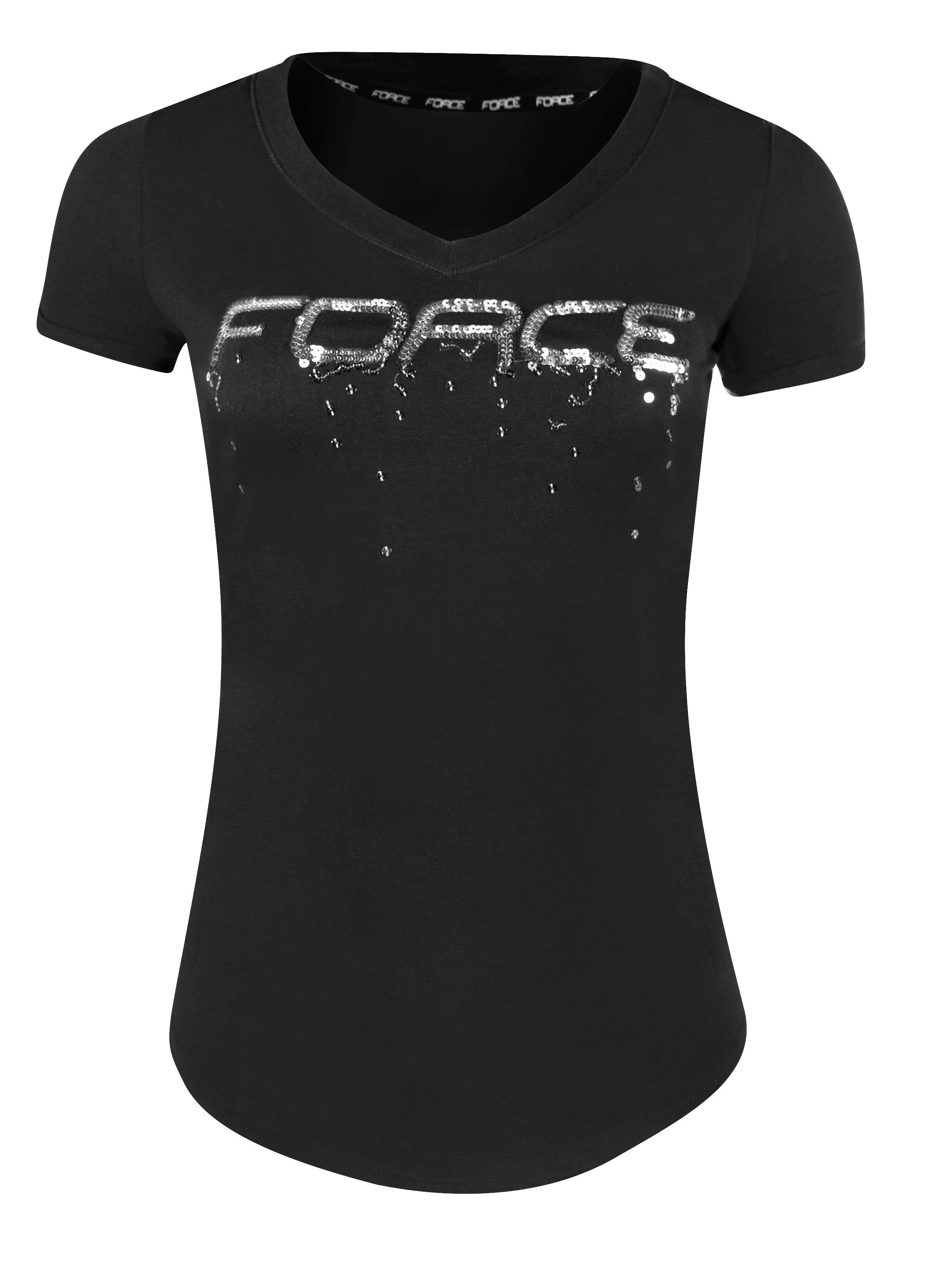 triko FORCE LADY krátký rukáv, černé L