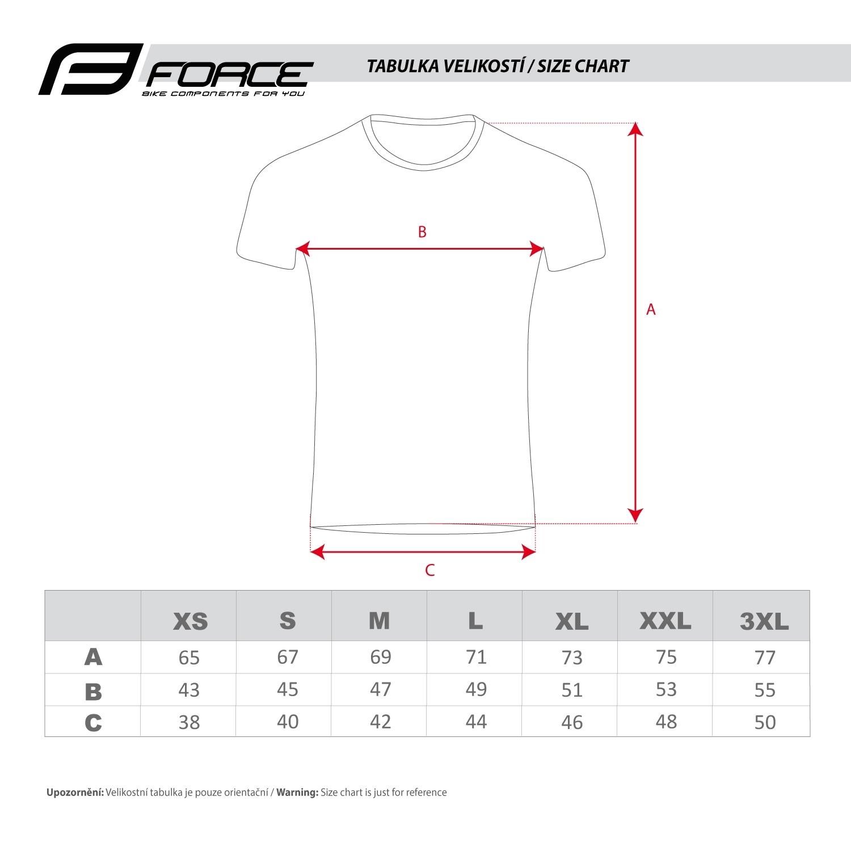 triko FORCE SENSE krátký rukáv,černé,bílý tisk