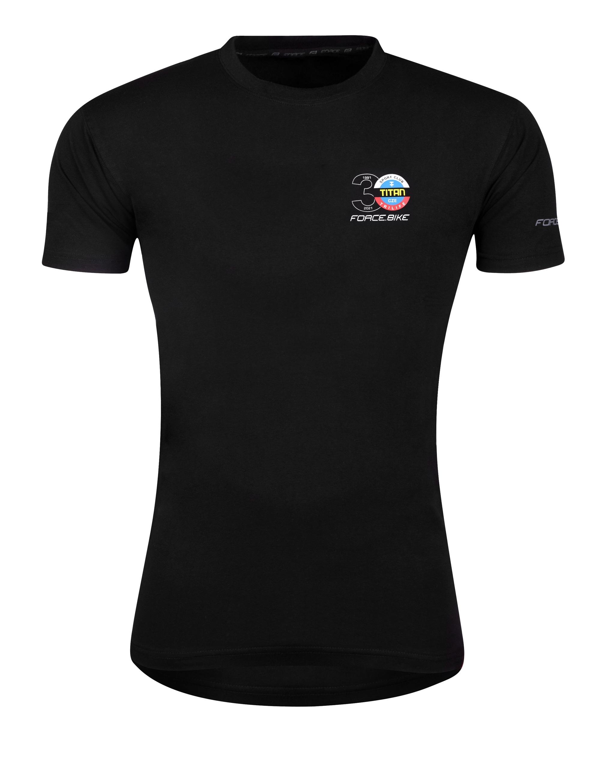 triko FORCE TITAN TRILIFE krátký rukáv, černé XL